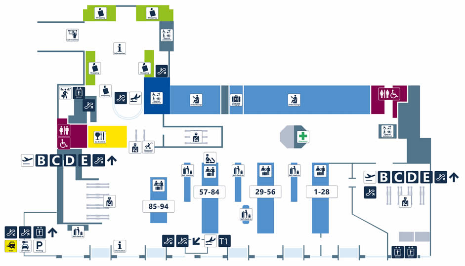 map of rome fiumicino airport Terminal Maps Fiumicino Airport map of rome fiumicino airport